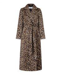 Wełniany płaszcz w zwierzęcy print Selvaggio