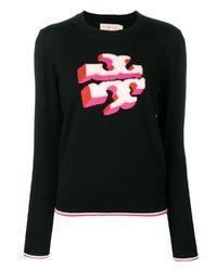 Sweter wełniany z logo