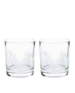 Zestaw dwóch szklanek kryształowych Garrett