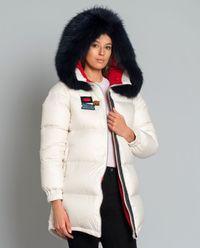 Puchowa kurtka z futrem