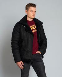 Skórzana kurtka z kożuchem