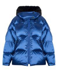 Modrá oversizová bunda