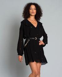 Sukienka z jetami Creponne di Viscoza