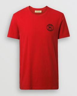 T-shirt z logo czerwony