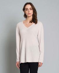 Plisowany sweter z kaszmiru