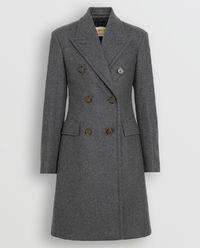 Dwurzędowy płaszcz z wełny