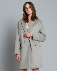 Płaszcz z wełny z domieszką kaszmiru