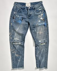 Kalhoty Worn Blue Artiste