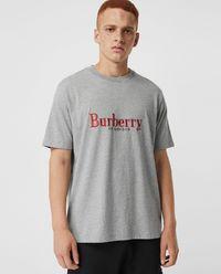 T-shirt z logo szary