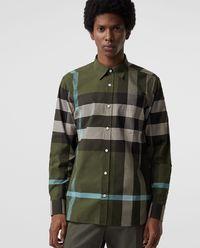 Koszula w kratę zielona