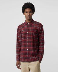 Koszula w kratę bordowa