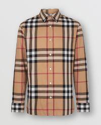 Koszula w kratę beżowa