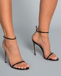 Sandały na szpilce G String czarne