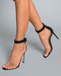 Sandały na szpilce Stella czarne