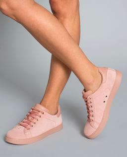 Sneakersy z zamszu różowe