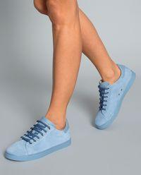 Sneakersy z zamszu niebieskie