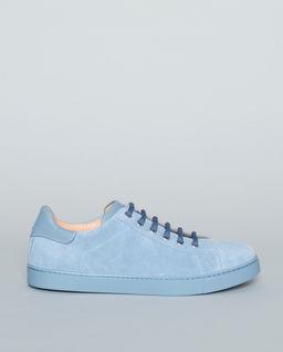 Modré, semišové sneakersy