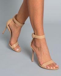 Sandały na szpilce Portofino nude