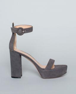 Sandały zamszowe szare