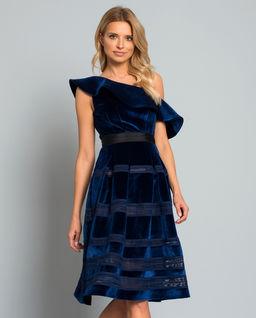 Aksamitna Sukienka Midi