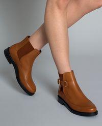 Kožené jodhpur boty se sponou