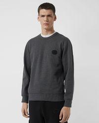 Sweter szary z logo
