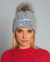 Szara czapka Miss Paris