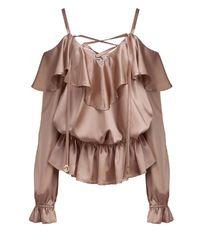 Jedwabna bluzka Lola Champagne Pink