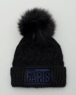 Czarna czapka Miss Paris