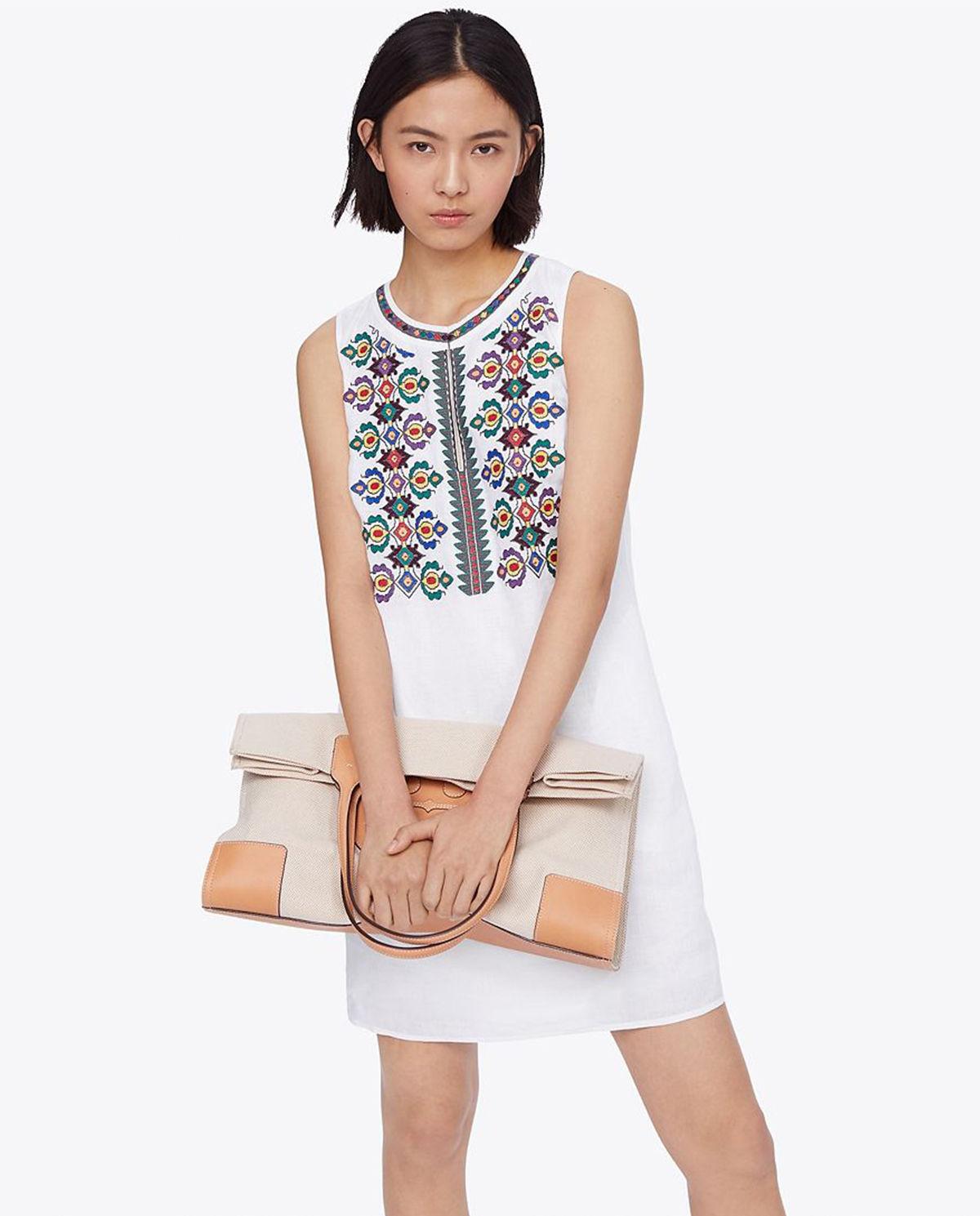63784965 Sukienka z haftem TORY BURCH – Kup Teraz! Najlepsze ceny i opinie ...