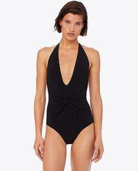 Jednodílné, černé plavky