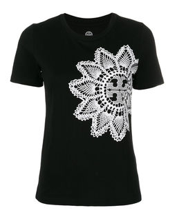 T-shirt z haftowanym wzorem