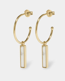 Kolczyki Idylle Gold Marble Bar Hoop