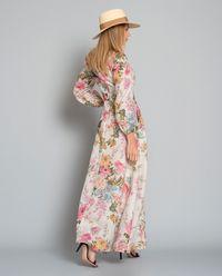 Sukienka maxi z lnu
