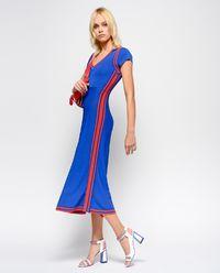 Niebieska sukienka z lampasami Ottoman