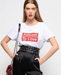 T-shirt z nadrukiem Spontaneo