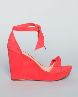 Semišové boty na platformě Clarita