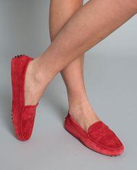 Czerwone loafery Gommino Driving