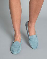Niebieskie loafery Gommino Driving
