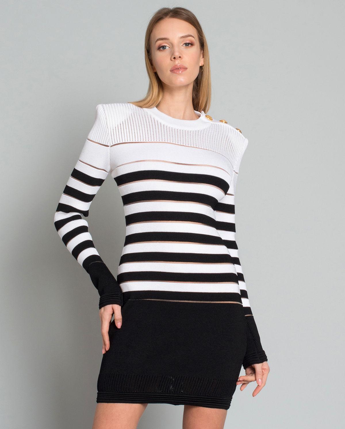 4342073b Sukienka w paski BALMAIN – Kup Teraz! Najlepsze ceny i opinie! Sklep ...