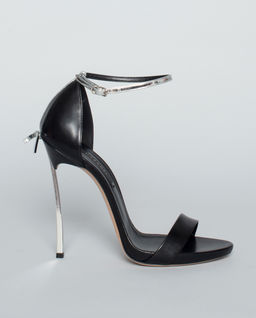 Czarne sandały na szpilce Blade
