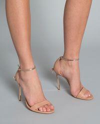 Sandały na szpilce nude