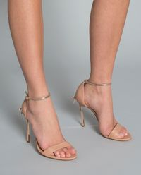 Sandály na jehle nude