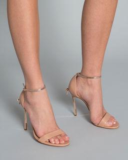 Sandały na szpilce Blade nude