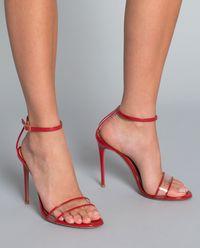 Sandały na szpilce transparentne