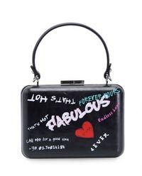 Skórzana torebka z nadrukami Covone Clutch