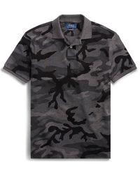 T-Shirt polo z nadrukiem moro