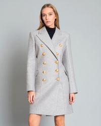 Dwurzędowy płaszcz z domieszką kaszmiru