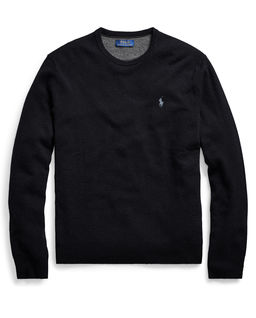 Czarny sweter z wełny merino