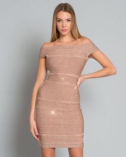 Sukienka bandażowa nude